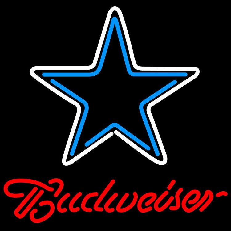 Nfl budweiser dallas cowboys neon sign 16  x 16
