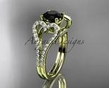 Ng395 yellow gold  diamond wedding ring  diamond engagement ring  black diamond  1 thumb155 crop