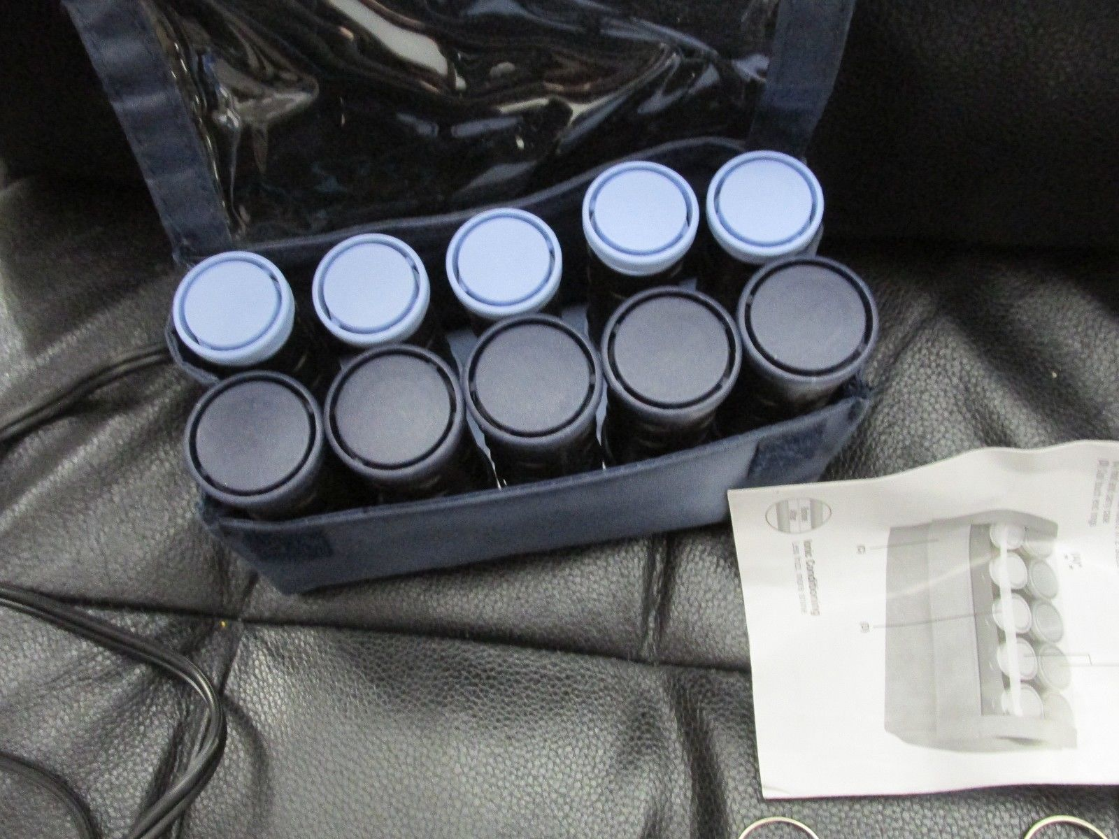 Remington Travel Hot Curlers Rollers w/Clips Model H-1015 EMI blue complete
