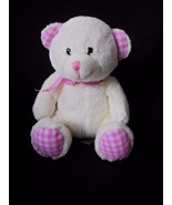 Teddy Bear (cream) Keel Toys Pink Check Plush Stuffed Animal - $9.75