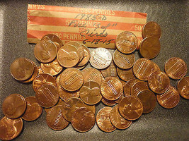 1985-D CIRCULATED ROLL OF LINCOLN CENTS      WE COMBINE SHIPPING - $3.99