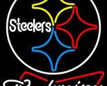 Nfl budweiser bowtie pittsburgh steelers neon sign 16  x 16  thumb155 crop