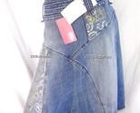 New Ecko Red Logo Blue Denim Skirt sz 3 S-M