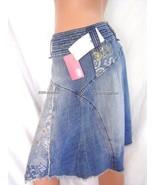 New Ecko Red Logo Blue Denim Skirt sz 3 S-M - $55.00