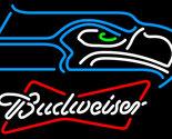 Nfl budweiser bowtie seattle seahawks neon sign 16  x 16  thumb155 crop