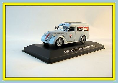 FIAT 1100 ELR VAN LAVAZZA-1950 EDICOLA,COLLECTOR'S DIECAST CAR MODEL 1/43, RARE