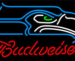 Nfl budweiser single line seattle seahawks neon sign 16  x 16  thumb155 crop