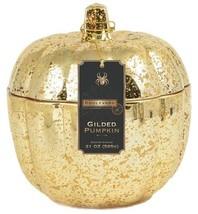 Boulevard Gold Mercury Pumpkin Filled Candleholder [Kitchen]