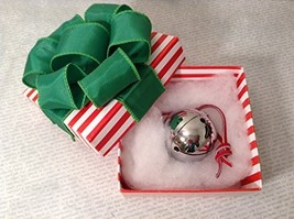 Polar Express Sleigh Bell in Hand Folded Origami Box Express From Elf Works Lane