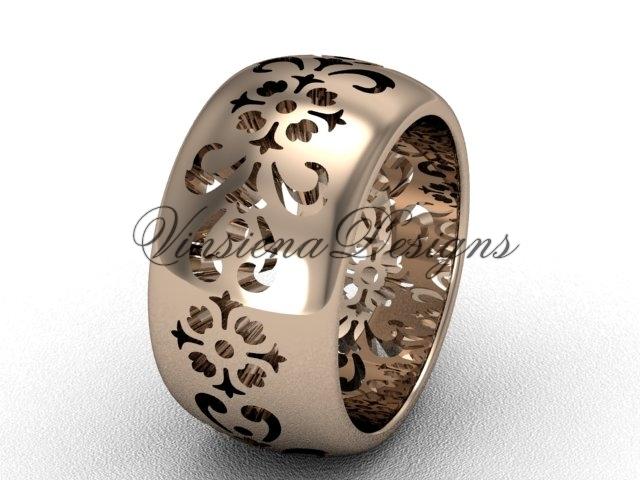 10035g rose gold  diamond wedding ring  diamond engagement ring  forever brilliant moissanite  1