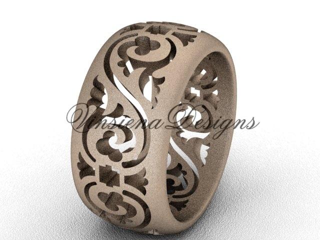 036g rose gold  diamond wedding ring  diamond engagement ring  forever brilliant moissanite  m 1