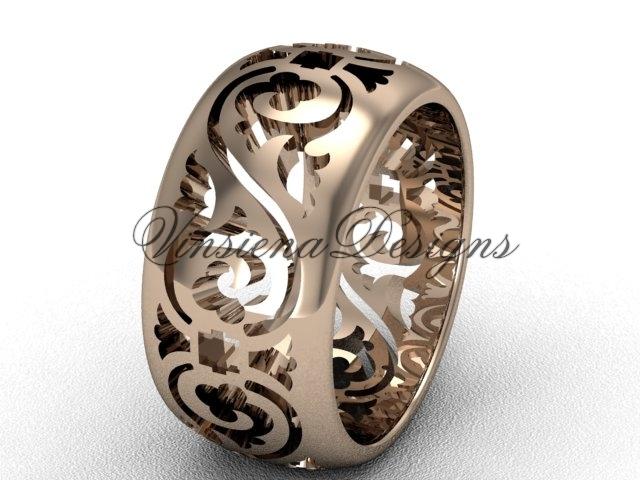 10036g rose gold  diamond wedding ring  diamond engagement ring  forever brilliant moissanite  1