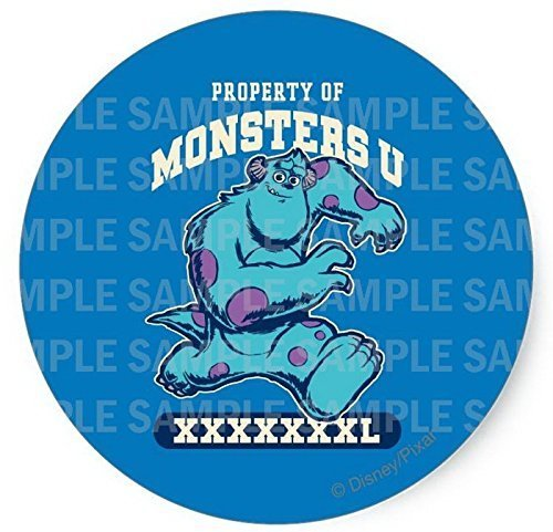 "Monsters University Birthday Edible Image Photo 8"" Round Cake Topper Sheet Pe..."