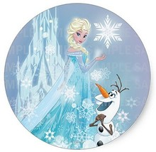 "Frozen Elsa Olaf Birthday Edible Image Photo 8"" Round Cake Topper Sheet ... - $9.99"