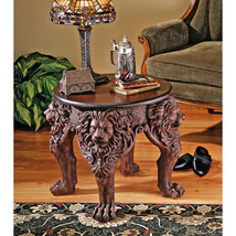 Medieval Antique Replica European Gothic Lordly Lion Side Occasional Table - $494.01