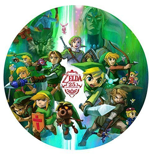 "Legend of Zelda 25th Anniversary Edible Image Photo 8"" Round Cake Topper Shee..."