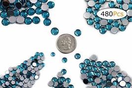 Acrylic Rhinestones Flat Back Blue Aqua Mixed 5 Sizes 480 Pcs for DIY Ar... - $14.80