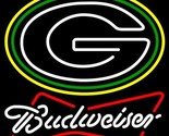Nfl budweiser bowtie green bay packers neon sign 16  x 16  thumb155 crop