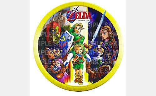 "The Legend of Zelda Birthday Edible Image Photo 8"" Round Cake Topper Sheet Pe..."