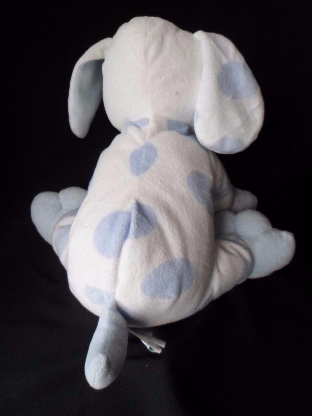 Kids Preferred White Blue Spot Puppy Dog Plush Asthma Allergy Friendly 9'