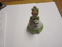 "Porcelaine Figurine , Antique ,Vintage ,""April"" , Lefton Exclusive ,4"" X... - $24.75"