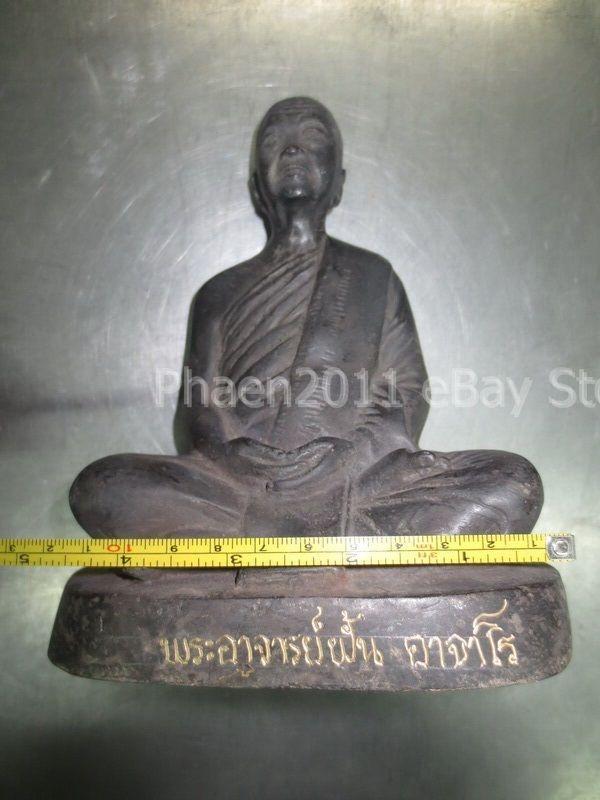 So Rare! Holy Ancient Phra LP Fhan Statue Top Antique Magic Thai Buddha Amulets