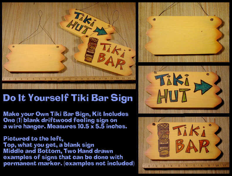 Make Your Own Driftwood Tiki Bar Sign !!!! Sign Blank to customize for yourself