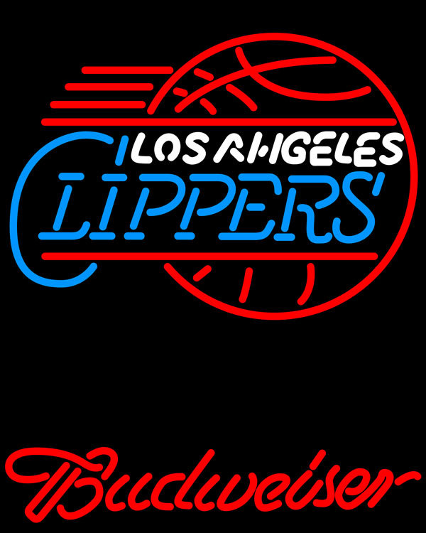 NBA Budweiser Los Angeles Clippers Neon Sign