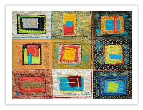 "Lilly Geometric Textile Art Series Print ""Loose Ends, Six"" by artist Sheryl L..."