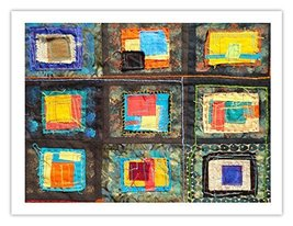"""Lilly Geometric Textile Art Series Print """"Loose Ends, Eleven"""" by artist ... - $29.97"""