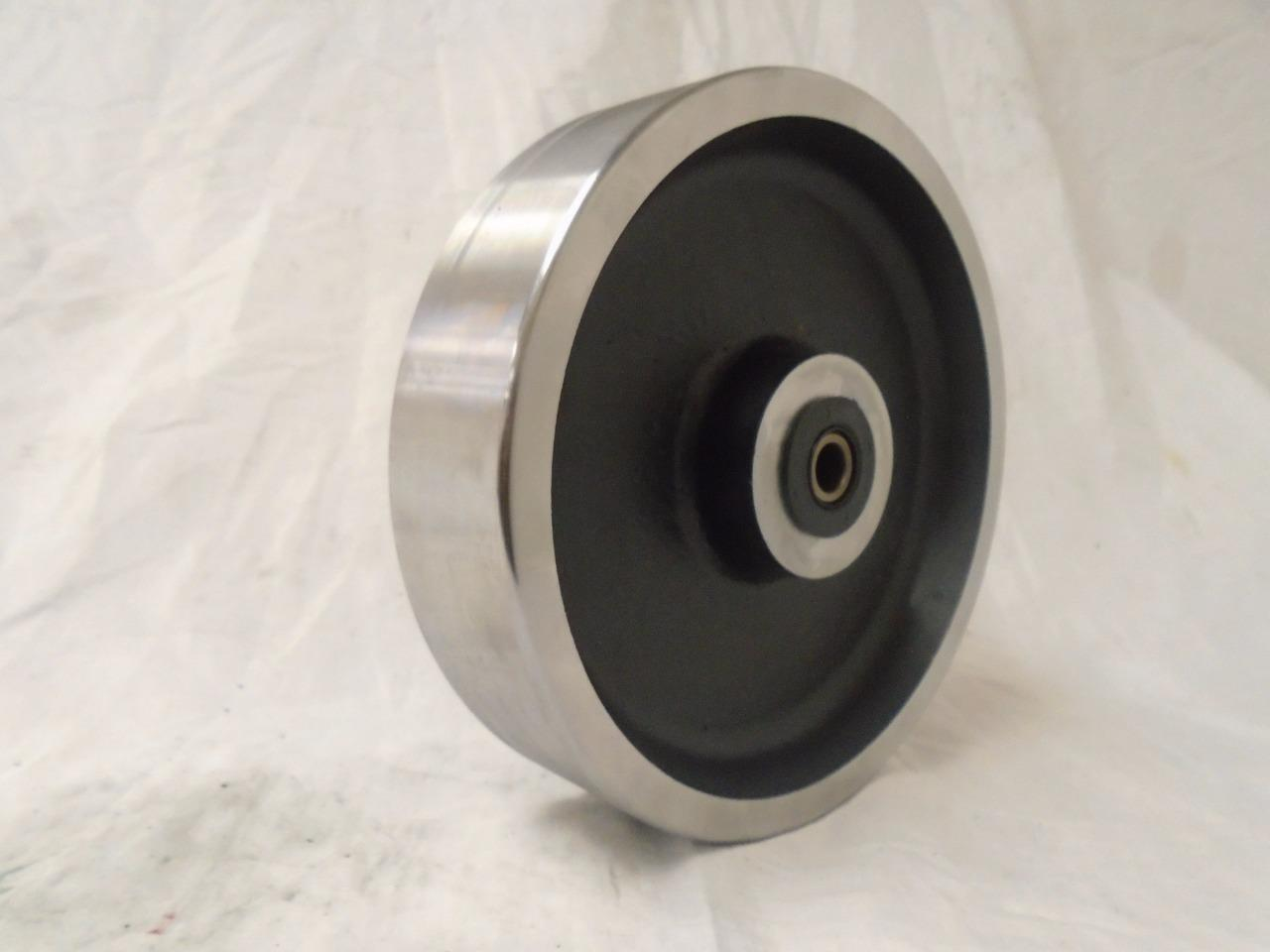 "8"" x 2"" Drop Forged Steel Caster Wheel w/ Roller Bearing&1/2"" Bushing 3000lbs ea"