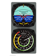 New TRINTEC Artificial Horizon Clock & Airspeed Indicator Thermometer Co... - $61.13