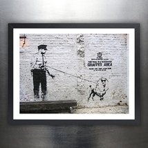 BANKSY DESIGNATED GRAFFITI AREA - Graffiti Street Art Mr Brainwash 18x24... - $29.97
