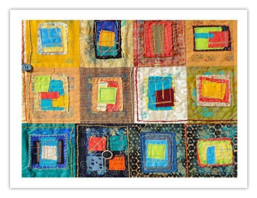 "Lilly Geometric Textile Art Series Print ""Loose Ends, Five"" by artist Sheryl ..."