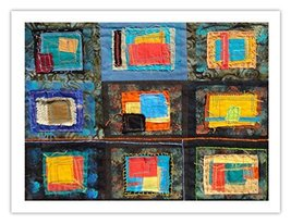 "Lilly Geometric Textile Art Series Print ""Loose Ends, Fourteen"" by artist She... - $29.97"