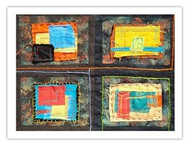"Lilly Geometric Textile Art Series Print ""Loose Ends, Nine"" by artist Sheryl ... - $29.97"