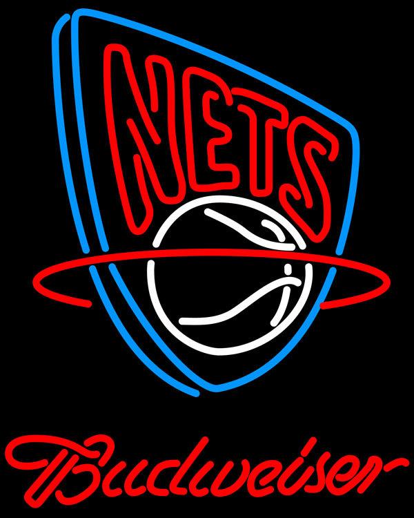 Nba budweiser new jersey nets neon sign 20  x 20