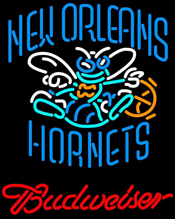 Nba budweiser new orleans hornets neon sign 20  x 20