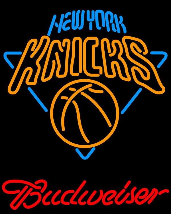 Nba budweiser new york knicks neon sign 20  x 20