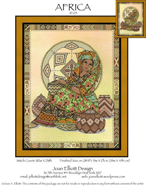 Primary image for Africa JE071 cross stitch chart Joan Elliott Designs