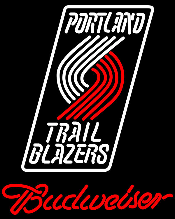 NBA Budweiser Portland Trail Blazers Neon Sign