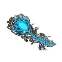 Aladdin Disney Lapel Pin: Peacock Feather - $200.00