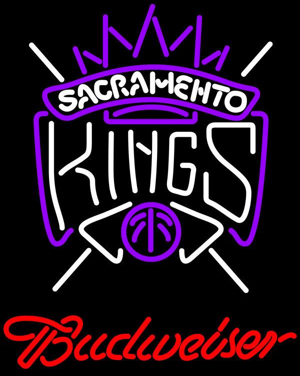 Nba budweiser sacramento kings neon sign 20  x 20
