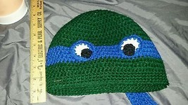 Crocheted adult blue Teenage Mutant Ninja Turtl... - $12.00