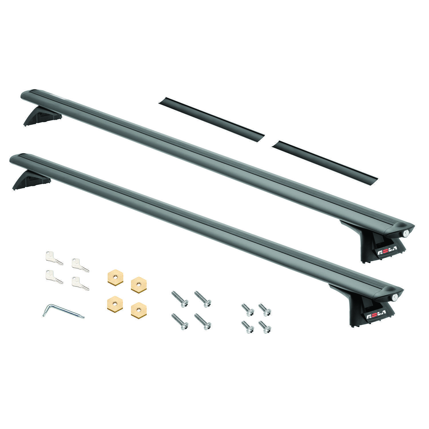 10-14 FORD TRANSIT CONNECT ROLA ROOF RACK CROSS BARS W/ TRACK RAILS SYSTEM NEW