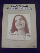 1977~Crystal Gayle~Don't it Make Your Brown Eyes Blue~Sheet Music~Richar... - $15.00