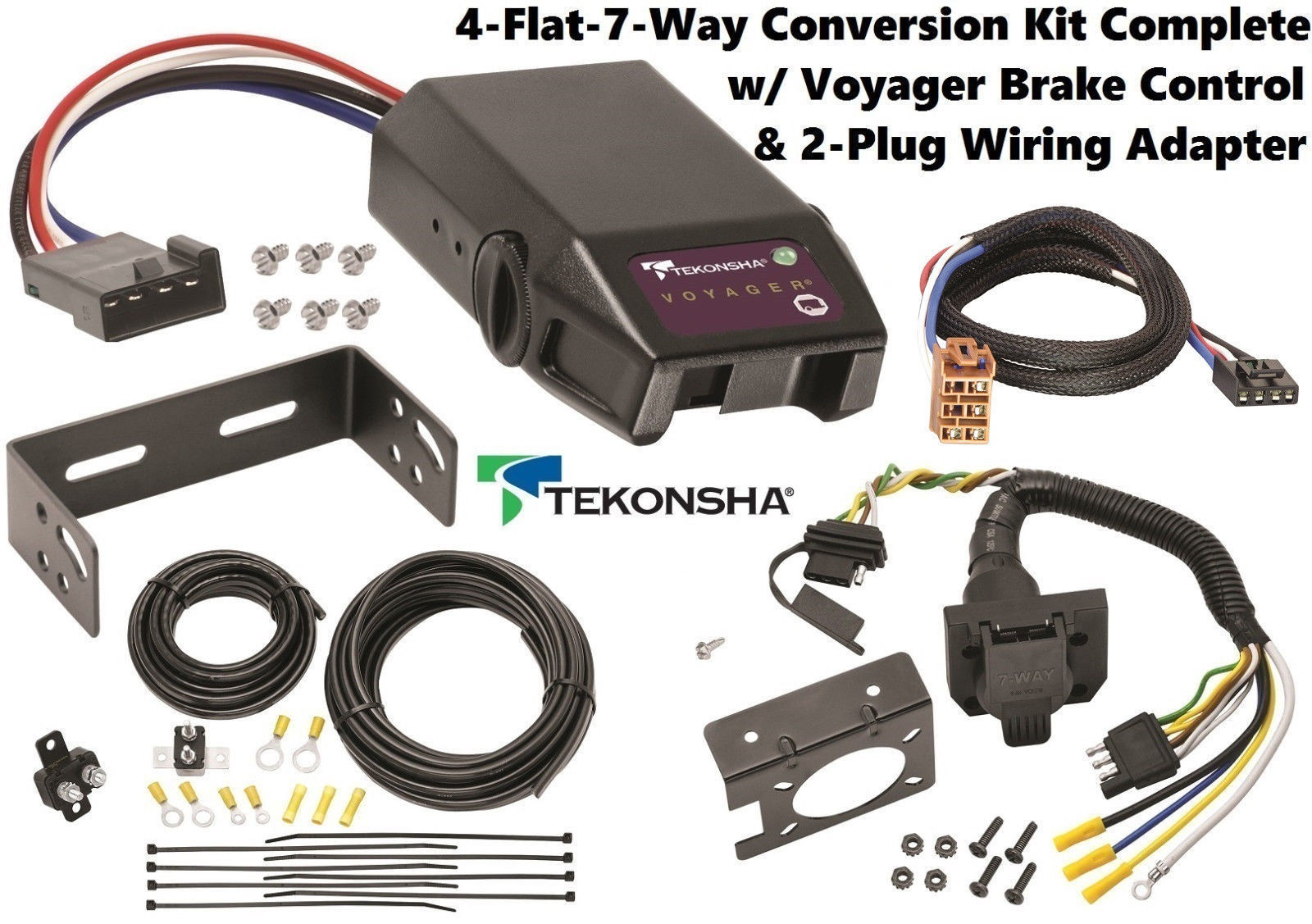 2002 CADILLAC ESCALADE TEKONSHA 4FLAT-7WAY CONVERSION W/ VOYAGER BRAKE CONTROL