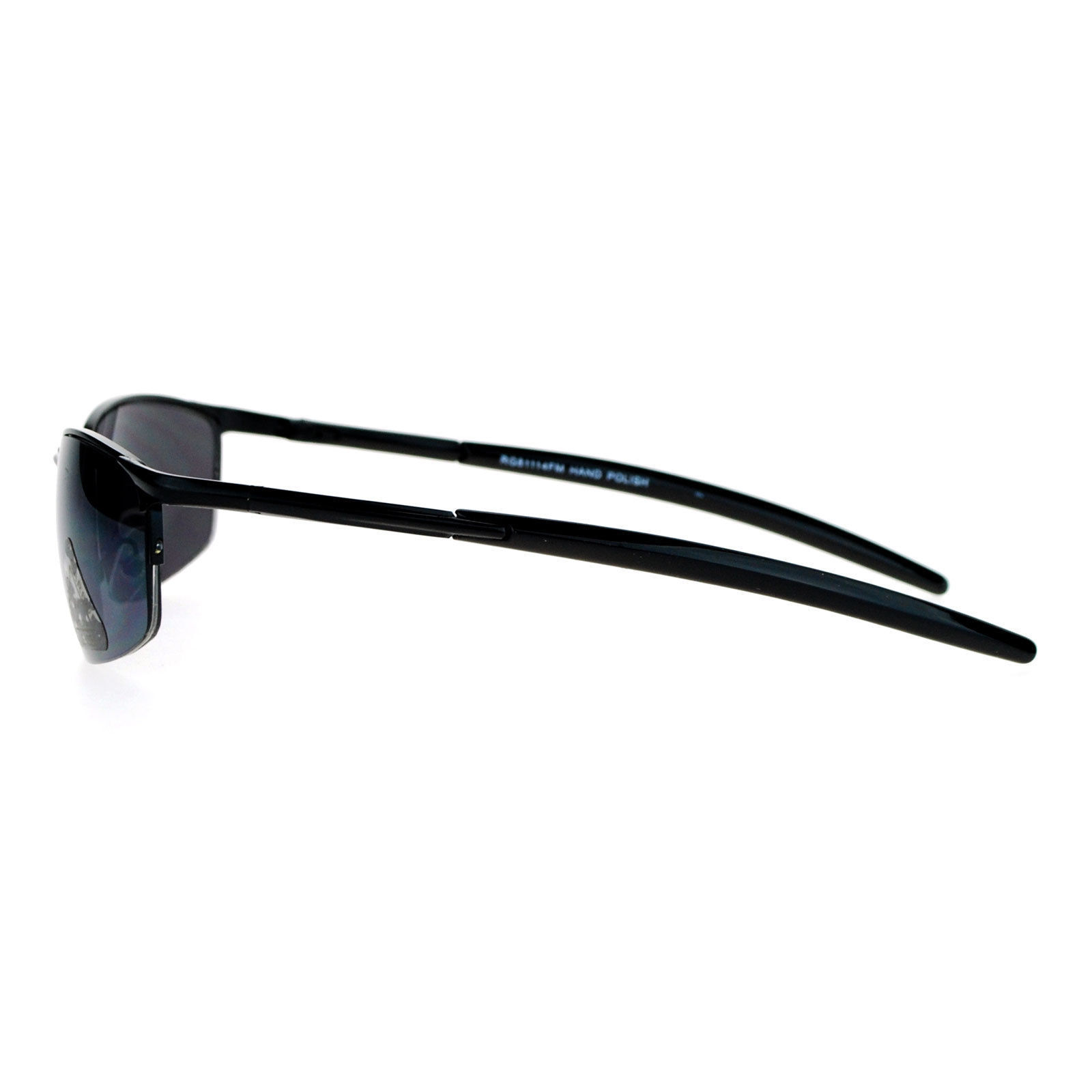 Oval Rectangular Sunglasses Half Rim Unisex Fashion Spring Hinge UV 400