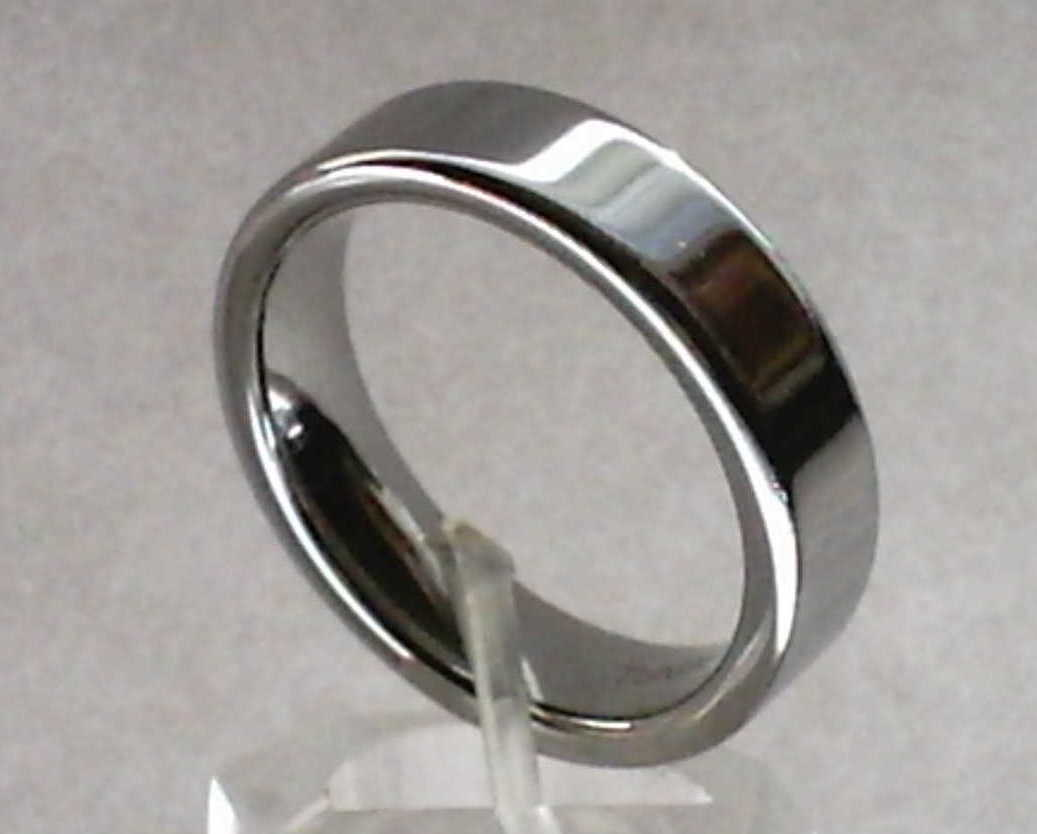 Tungsten 6mm Wide Band Size 10