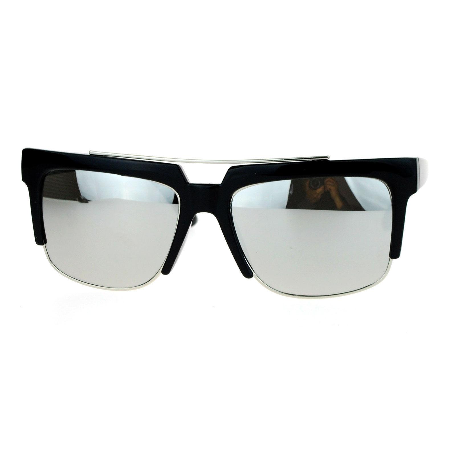Unisex Fashion Sunglasses Square Flat Top Designer Style Shades UV 400